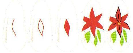 Рисунок на ногтях Лилия