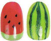 """Рисунок на ногтях """"Арбуз"""""""