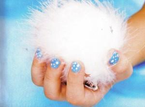 "Рисунок на ногтях ""Снегопад"""