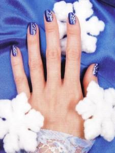 "Рисунок на ногтях ""Снежинка"""
