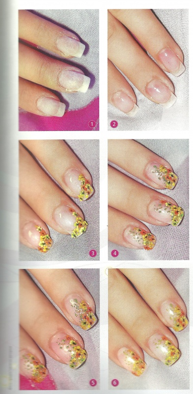 "Рисунок на ногтях ""Летняя лужайка"""