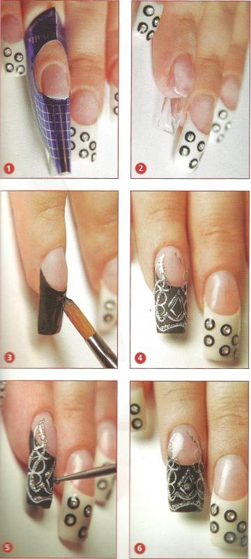 """Рисунок на ногтях """"Black & White"""""""