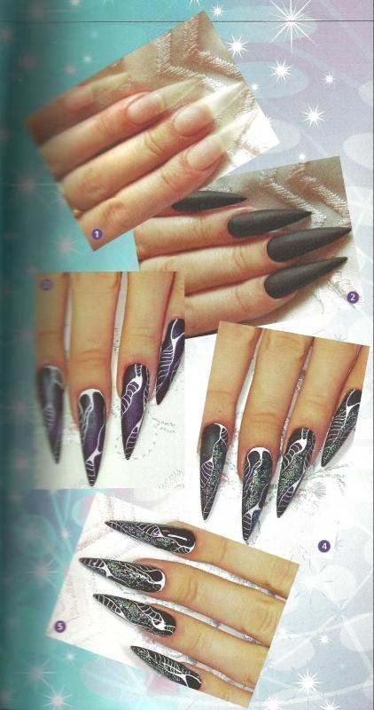 Рисунок на ногтях «Изумрудная ночь»
