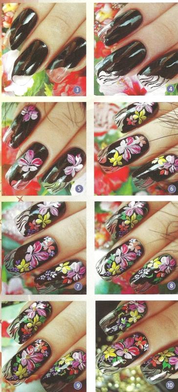 """Рисунок на ногтях """"Цыганские мотивы"""""""