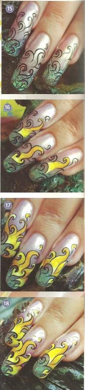 """Рисунок на ногтях """" Цыганские мотивы-2"""""""