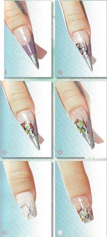Наращивание ногтей картинки поэтапно для