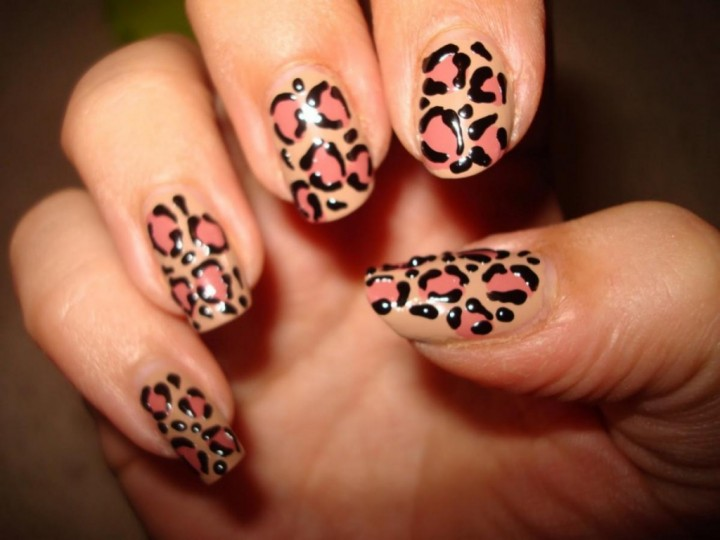 оформления ногтей леопард