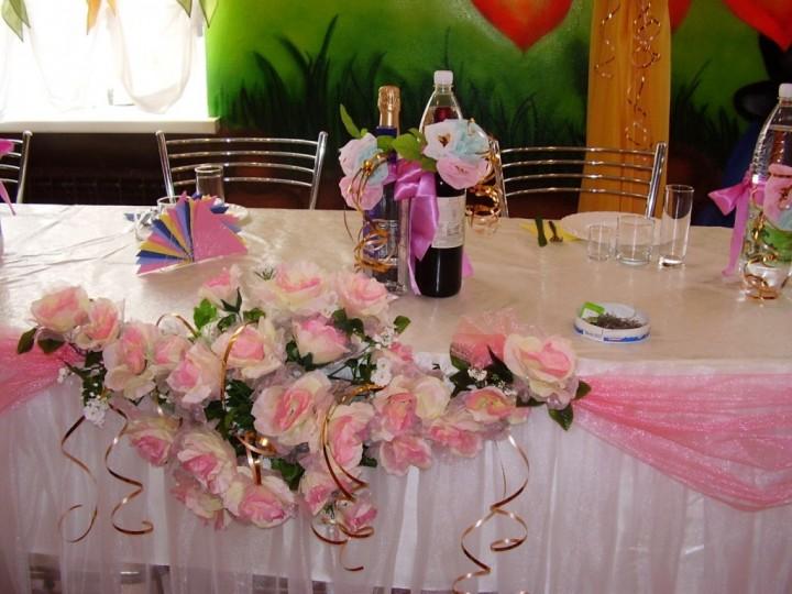 Украшение стола на свадьбу (2)