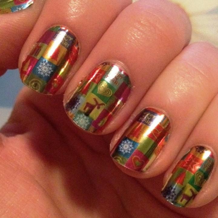 Идеи новогоднего дизайна ногтей 20141