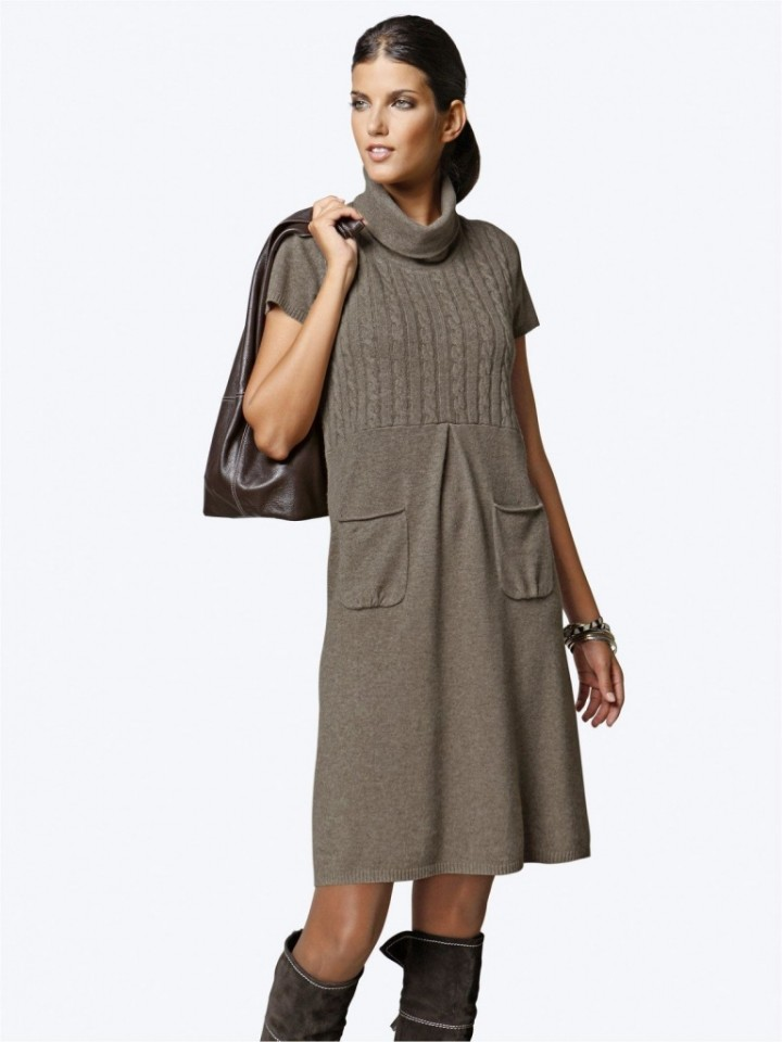 Какие бывают вязаные платья1