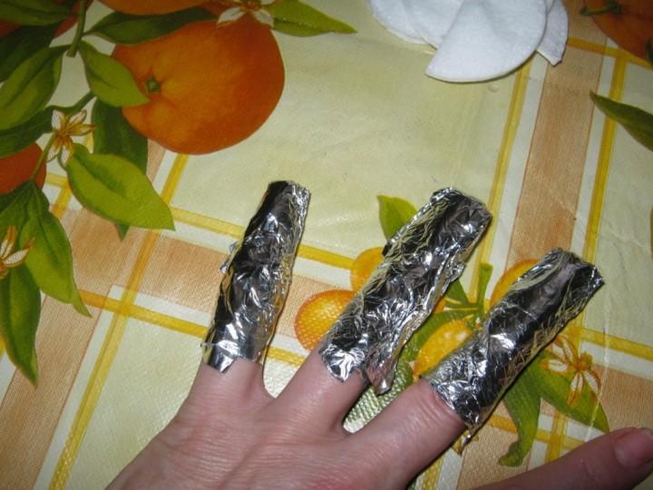 Как снять нарощенные ногти 3
