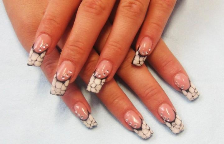 Как сделать мраморный рисунок на ногтях